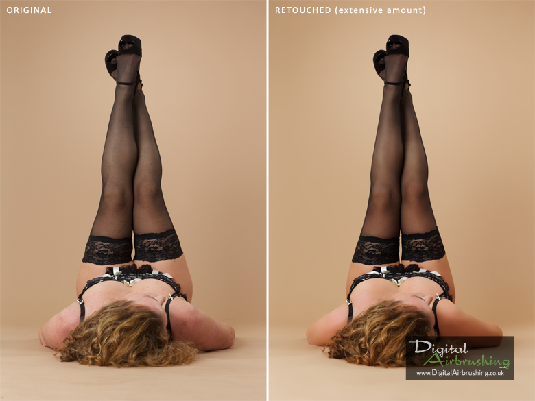 Adult Boudoir Photo Airbrushing Example